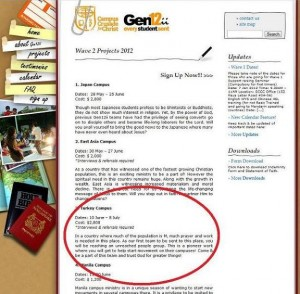 Offensive web page from Campus Crusade for Christ